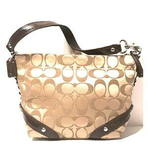 Coach Carly Signature Sateen Top handle demi Bag